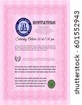 pink formal invitation....   Shutterstock .eps vector #601552943