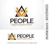 people logo template design... | Shutterstock .eps vector #601554023