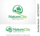 nature city logo template... | Shutterstock .eps vector #601554047