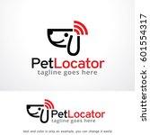 pet locator logo template... | Shutterstock .eps vector #601554317