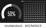 set of circle percentage... | Shutterstock .eps vector #601563413