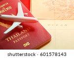 thailand passport with blue... | Shutterstock . vector #601578143