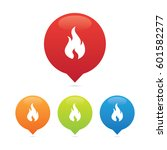 colorful round fire or flame... | Shutterstock .eps vector #601582277