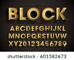 vector of stylized bold font... | Shutterstock .eps vector #601582673