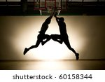 basketball jump   black... | Shutterstock . vector #60158344