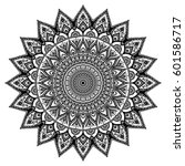 mandala. decorative round... | Shutterstock .eps vector #601586717