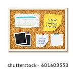 bulletin board with photos ... | Shutterstock .eps vector #601603553
