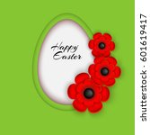 happy easter. abstract egg with ... | Shutterstock .eps vector #601619417