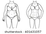 before and after weight loss | Shutterstock .eps vector #601631057
