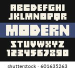 geometric font with rounded... | Shutterstock .eps vector #601635263