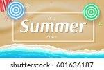 summer background  banner with...   Shutterstock .eps vector #601636187