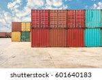 handling stack of container... | Shutterstock . vector #601640183