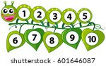 counting number with green... | Shutterstock .eps vector #601646087