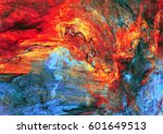 abstract red and blue painting... | Shutterstock . vector #601649513