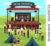 open air festival background... | Shutterstock .eps vector #601656713