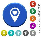 favorite gps map location round ... | Shutterstock .eps vector #601662953