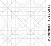 art deco seamless background. | Shutterstock .eps vector #601672553