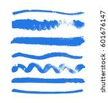 watercolor blobs collection... | Shutterstock .eps vector #601676147
