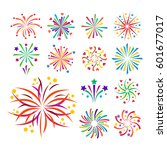 firework vector icon isolated... | Shutterstock .eps vector #601677017