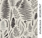 Seamless Pattern. Ferns....