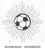 vintage soccer ball with...