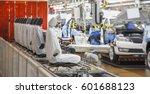 automobile production line | Shutterstock . vector #601688123