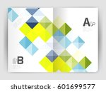 square annual report brochure... | Shutterstock .eps vector #601699577