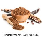 Ground Carob And Pods Isolated...