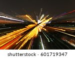 abstract night acceleration... | Shutterstock . vector #601719347