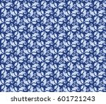 Floral Vector Blue Ornament....