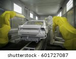 automobile frame manufacturing... | Shutterstock . vector #601727087