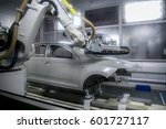 automobile frame manufacturing | Shutterstock . vector #601727117