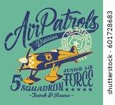 air patrols squadron  vintage...   Shutterstock .eps vector #601728683