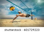 beach volleyball player in... | Shutterstock . vector #601729223