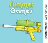 water gun vector design for... | Shutterstock .eps vector #601734053