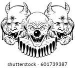 vector hand drawn  illustration ... | Shutterstock .eps vector #601739387