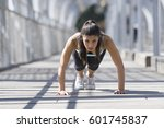 young beautiful and athletic...   Shutterstock . vector #601745837
