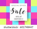 poster of spring sale   Shutterstock .eps vector #601748447