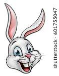 a cartoon white rabbit or... | Shutterstock . vector #601755047