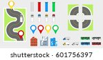cityscape design elements with... | Shutterstock .eps vector #601756397