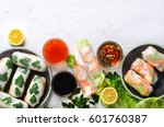 fresh vietnamese  asian ... | Shutterstock . vector #601760387