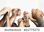 group of people holding hands... | Shutterstock . vector #601775273