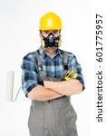workman in protective workwear... | Shutterstock . vector #601775957