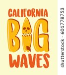 surf skull. surfer and big wave.... | Shutterstock .eps vector #601778753