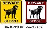 Beware Of Dog Sign   Vector