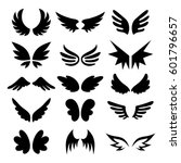 wing vector icon and logo | Shutterstock .eps vector #601796657