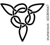 monochrome celtic pattern.... | Shutterstock .eps vector #601804667