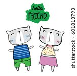 cute animals cartoon   Shutterstock .eps vector #601813793