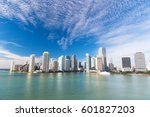 view of miami downtown... | Shutterstock . vector #601827203
