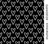 abstract heart pattern with... | Shutterstock . vector #601834493